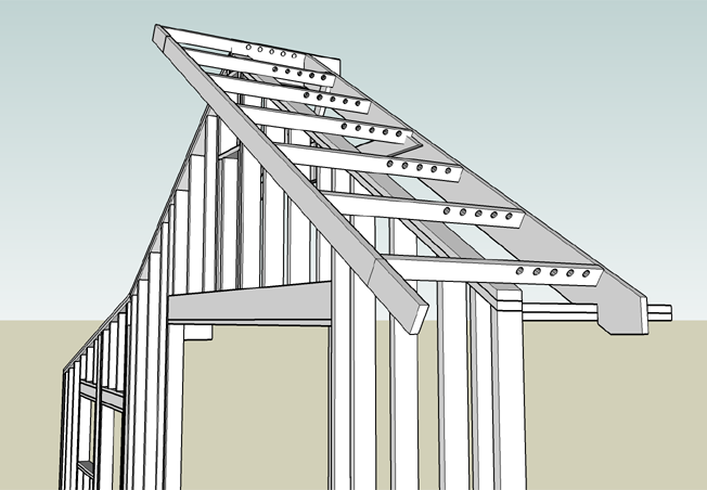 Building the Woodshop: Part VII - Framing the Roof